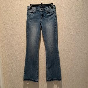 """Lucky Brand """"Brooke Flare"""" stonewashed jeans, 4"""